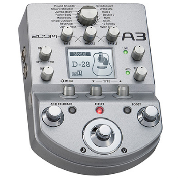 【ZOOM】A3のレビューや仕様【Pre-Amp & Effects for Acoustic Guitar】