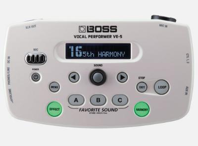 【BOSS】VE-5のレビューや仕様【VocalPerformer】