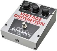 【BEHRINGER】VD1 Vintage Distortionのレビューや仕様